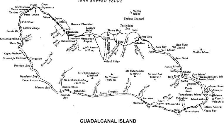 Guadalcanal Map